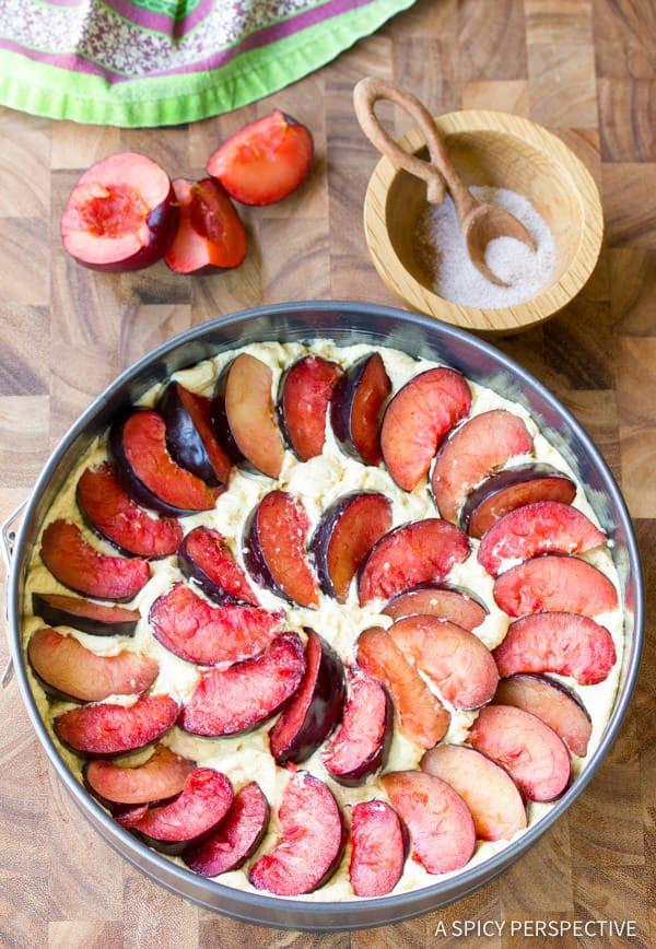 Making a Fresh Plum Cake Recipe | ASpicyPerspective.com