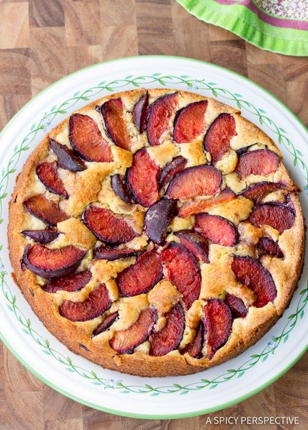 Fresh Plum Cake Recipe | ASpicyPerspective.com