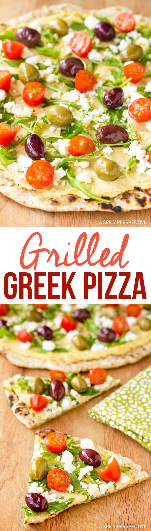 Fresh Grilled Greek Pizza Recipe