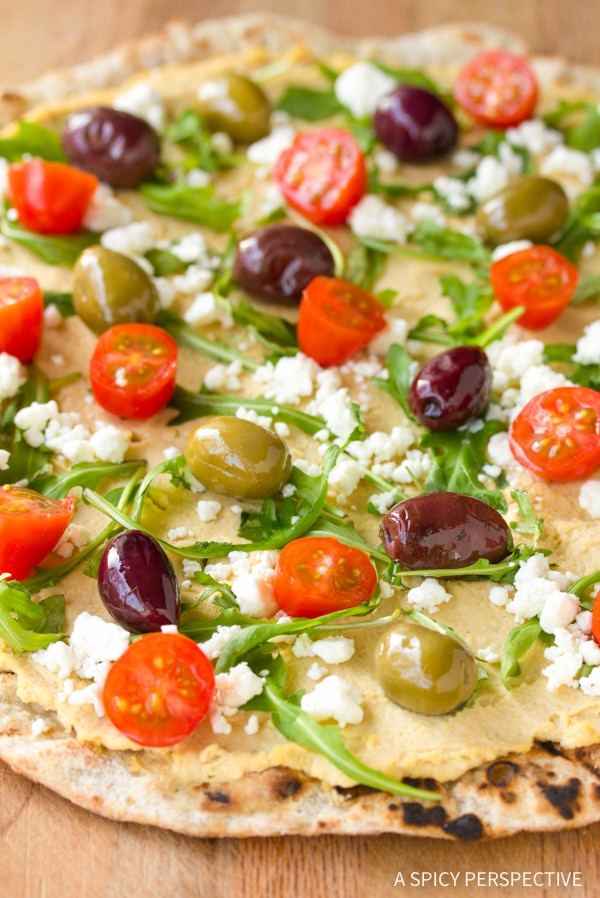 Healthy Grilled Greek Pizza Recipe