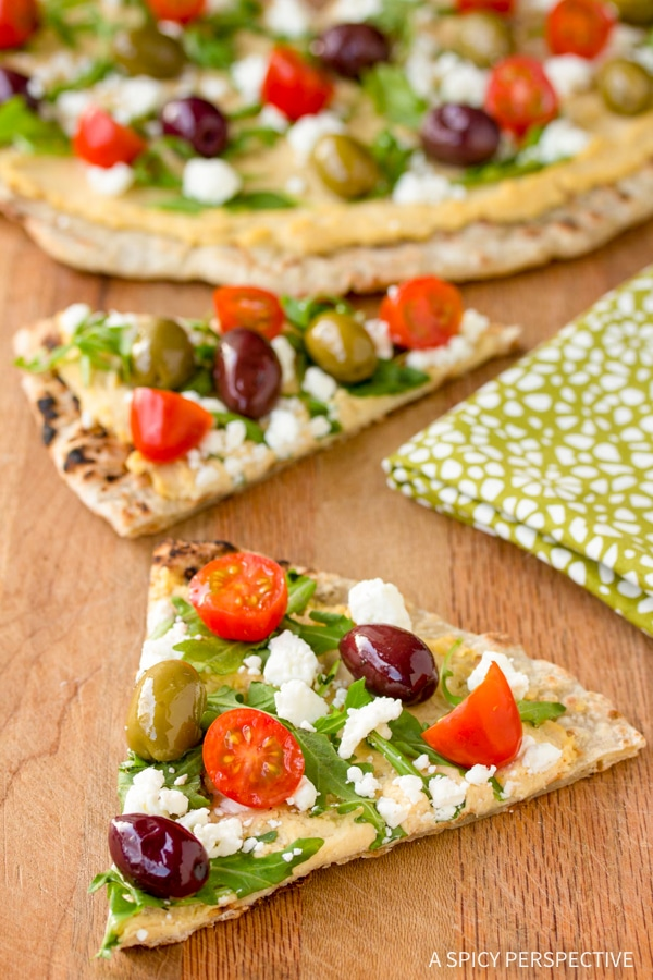 Summer Grilled Greek Pizza Recipe