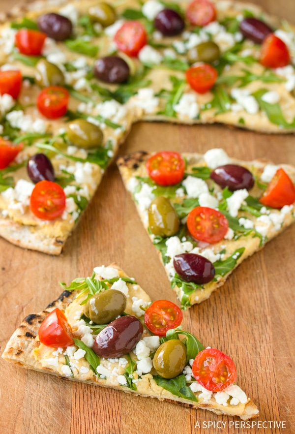 Perfect Grilled Greek Pizza Recipe