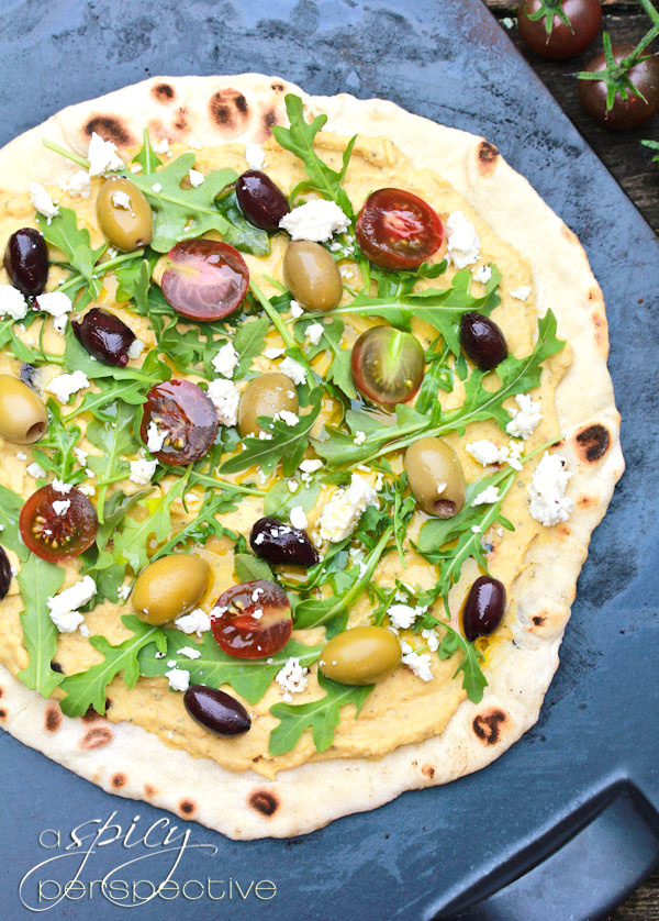 Grilled Greek Pizza - A Spicy Perspective