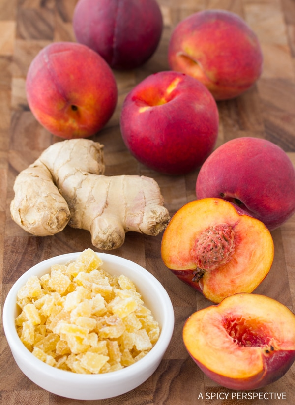 Making Grilled Peaches and Ginger Ice Cream Recipe #summer #peach