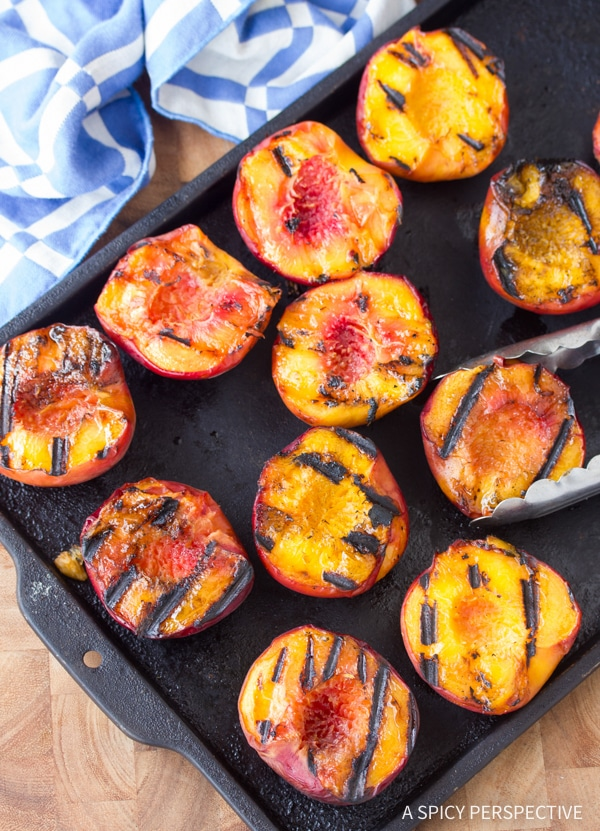 Sizzling Grilled Peaches and Ginger Ice Cream Recipe #summer #peach