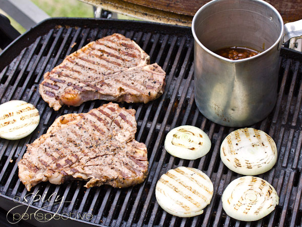 Porterhouse Steaks Recipe with Compound Butter | ASpicyPerspective.com