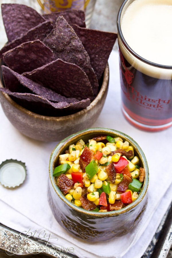 Bacon Corn Salsa | ASpicyPerspective.com