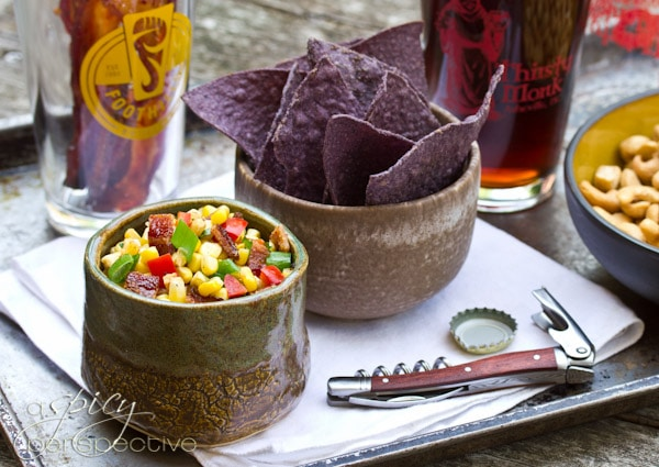 Candied Bacon and Bacon Corn Salsa | ASpicyPerspective.com