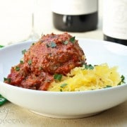 Slow Carb Spaghetti and Meatballs | ASpicyPerspective.com