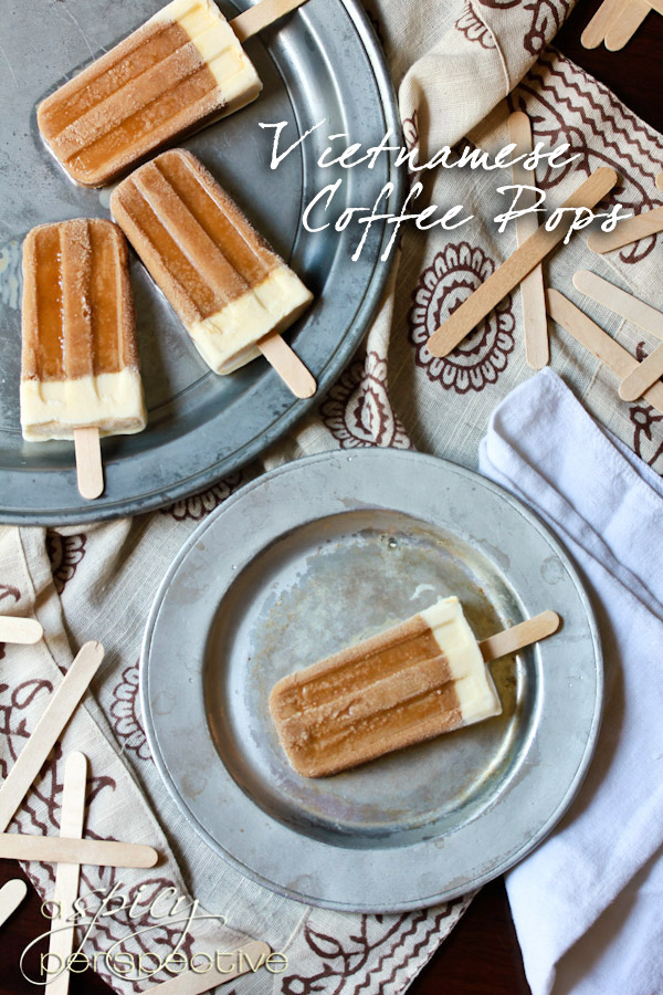Vietnamese Coffee Pops | ASpicyPerspective.com