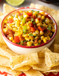 Corn Salsa with BACON | ASpicyPerspective.com