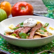 Chilaquiles Recipe with Grilled Skirt Steak | ASpicyPerspective.com