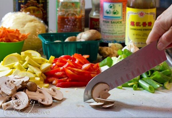 Making Vegetarian Lo Mein | ASpicyPerspective.com