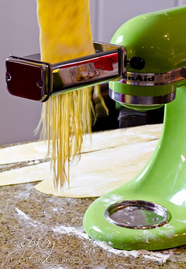 KitchenAid Pasta Attachment | ASpicyPerspective.com