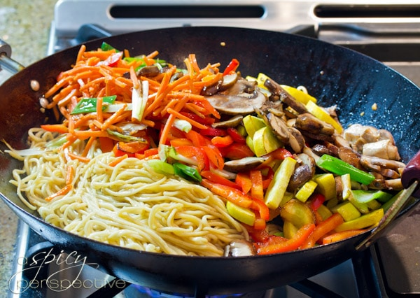 Vegetable Lo Mein at Home | ASpicyPerspective.com