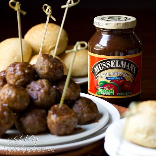 Apple Butter Swedish Meatballs Recipe | ASpicyPerspective.com