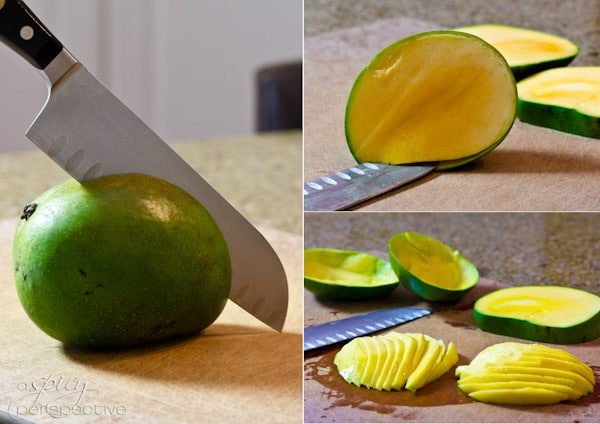 How to cut a Mango | ASpicyPerspective.com