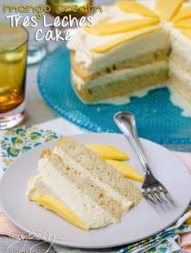 Mango Cream Tres Leches Cake Recipe | ASpicyPerspective.com