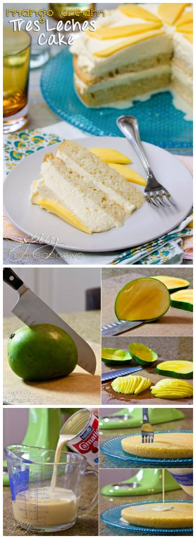 Glorious Tres Leches Cake Recipe with Mango Cream!