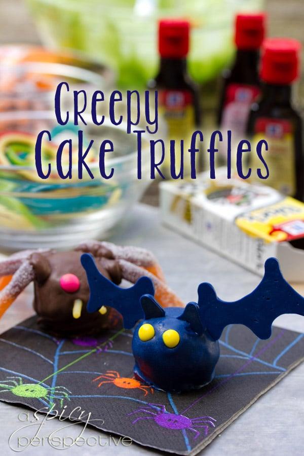 Creepy Crawly Cake Truffles for Halloween