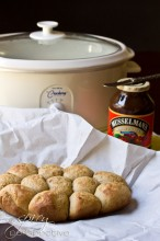 Crockpot Apple Butter Yeast Rolls Recipe | ASpicyPerspective.com #crockpot #slowcooker #thanksgiving #recipes