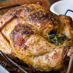 Oven Roasted Turkey   ASpicyPerspective.com #thanksgiving #recipes #turkey