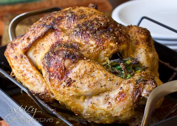 Oven Roasted Turkey | ASpicyPerspective.com #thanksgiving #recipes #turkey