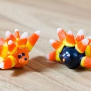 Food Crafts: Gumball Hedgehog Craft | ASpicyPerspective.com #KidFriendly #Halloween #EdibleGifts #Gumballs