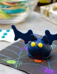 Halloween Dessert Bat Cake Truffles | ASpicyPerspective.com #Halloween #Cake #Recipe