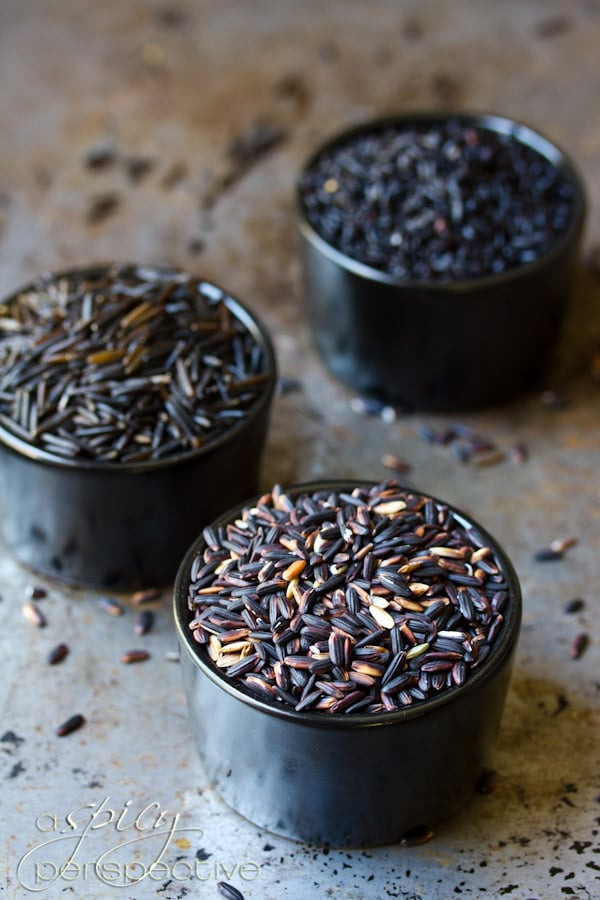 Black Rice | ASpicyPerspecive.com #Halloween #Recipes #Fall