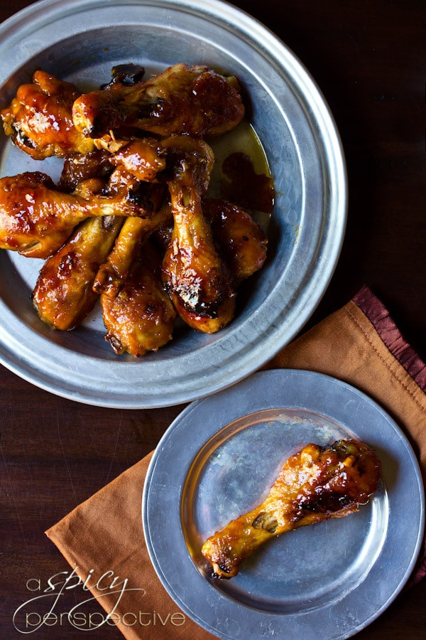 Sweet and Spicy Baked Chicken Drumstick Recipe | ASpicyPerspective.com ...