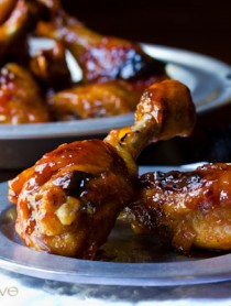 Sweet and Spicy Baked Chicken Drumsticks | ASpicyPerspective.com #Drumsticks #Recipe #Chicken