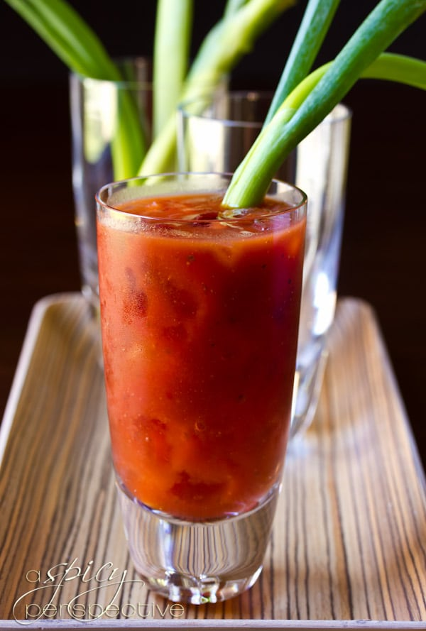 Asian Bloody Mary Cocktail | ASpicyPerspective.com #cocktails #recipe