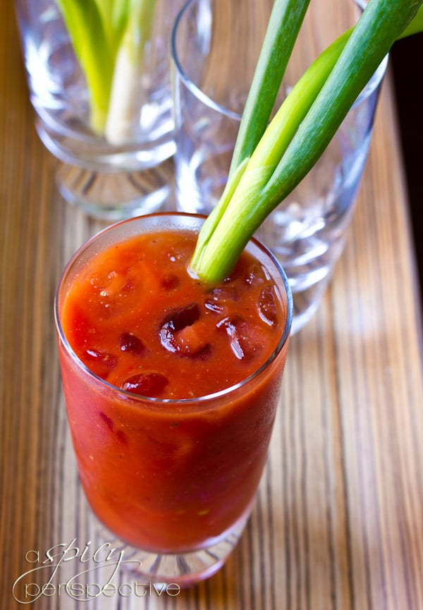 Asian Bloody Mary Recipe | ASpicyPerspective.com #cocktails #recipe