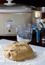 Crockpot Apple Butter Yeast Rolls Dough | ASpicyPerspective.com #crockpot #slowcooker #thanksgiving #recipes