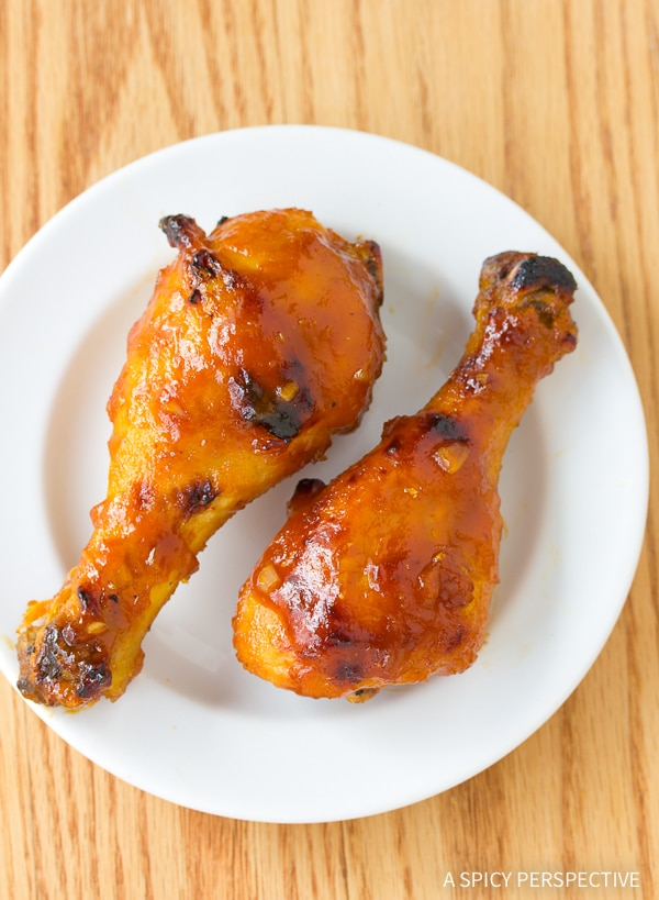 Crisp Sweet and Spicy Baked Chicken Drumsticks Recipe