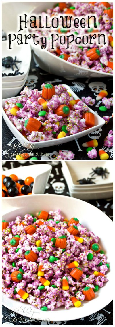 Kid-Friendly Halloween Popcorn Mix