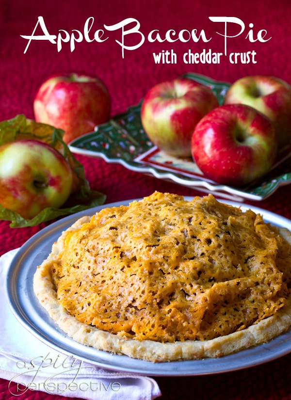 Apple Bacon Pie with Cheddar Crust - A Spicy Perspective