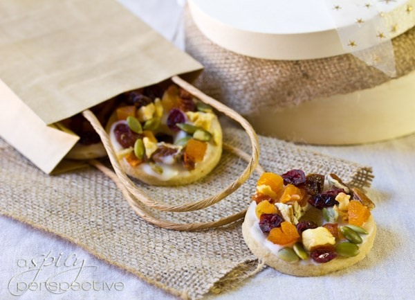 Beautiful Fruitcake Cookies | ASpicyPerspective.com #cookies #christmas #holidays