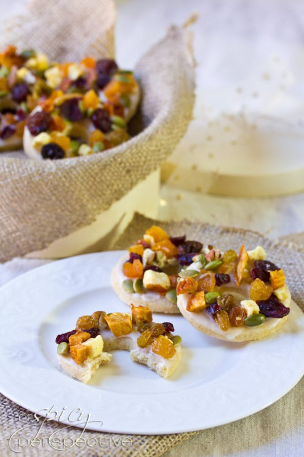Fruit Cake Cookies | ASpicyPerspective.com #cookies #christmas #holidays