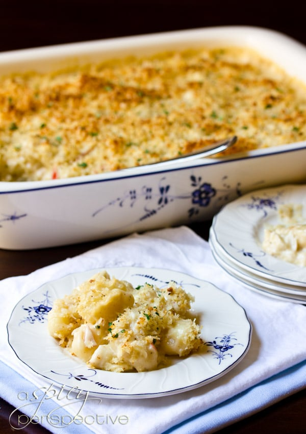 Crab and Gnocchi Gratin | ASpicyPerspective.com #macandcheese #gratin #holidays