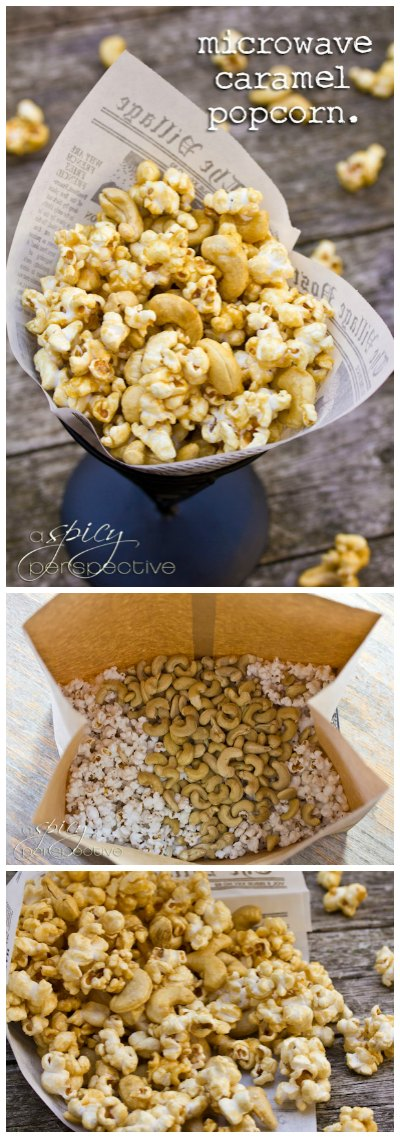 Caramel Popcorn Recipe made in the MICROWAVE!