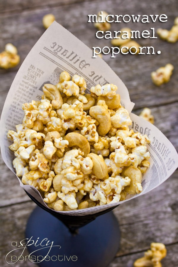 Amazing Caramel Popcorn Recipe made in the MICROWAVE!