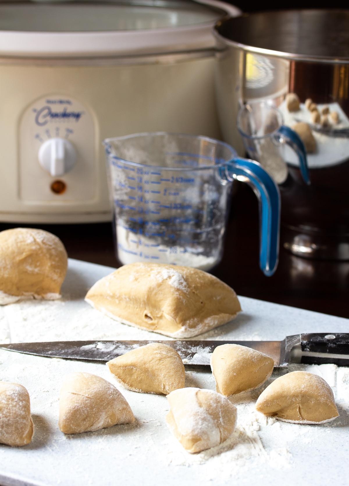 How To Make Crockpot Apple Butter Yeast Rolls Recipe #ASpicyPerspective #crockpot #slowcooker #thanksgiving #recipes #rolls #bread