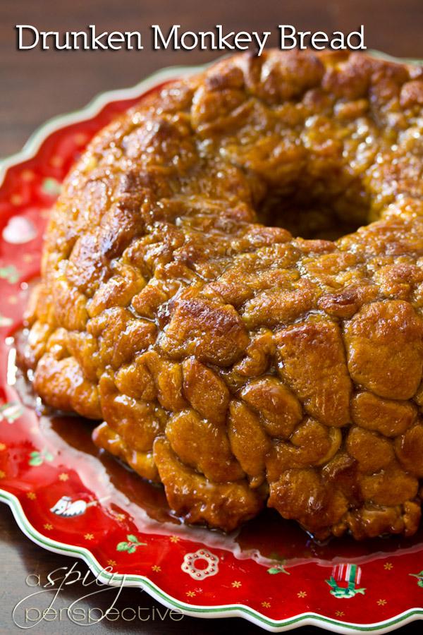 Drunken Monkey Bread | ASpicyPerspective.com #recipe #holidays #monkeybread