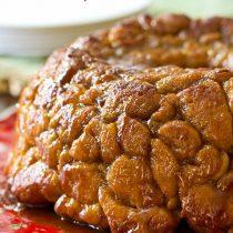 """Drunken Monkey"" Bread | ASpicyPerspective.com #recipe #holidays #monkeybread"