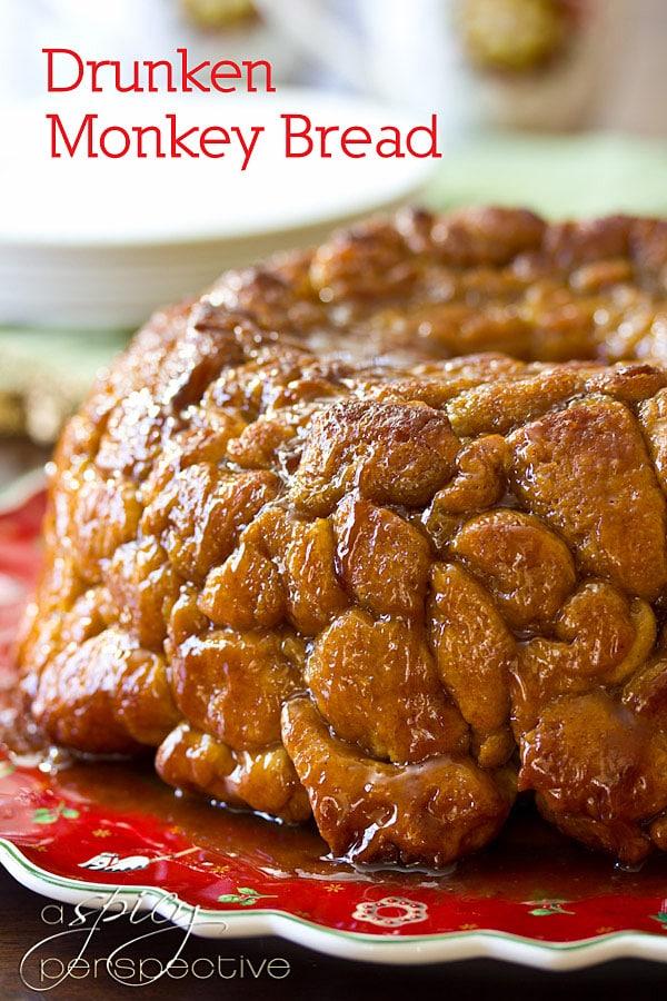 "Drunken Monkey"" Bread | ASpicyPerspective.com #recipe #holidays # ..."