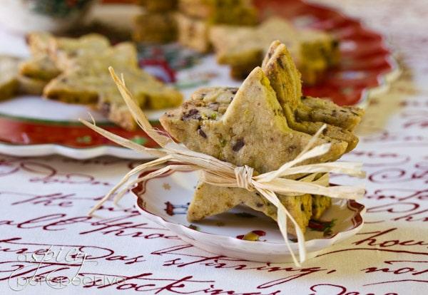 Chocolate Shortbread Cookie Recipe   ASpicyPerspective.com #cookies #christmascookies #cookieexchange