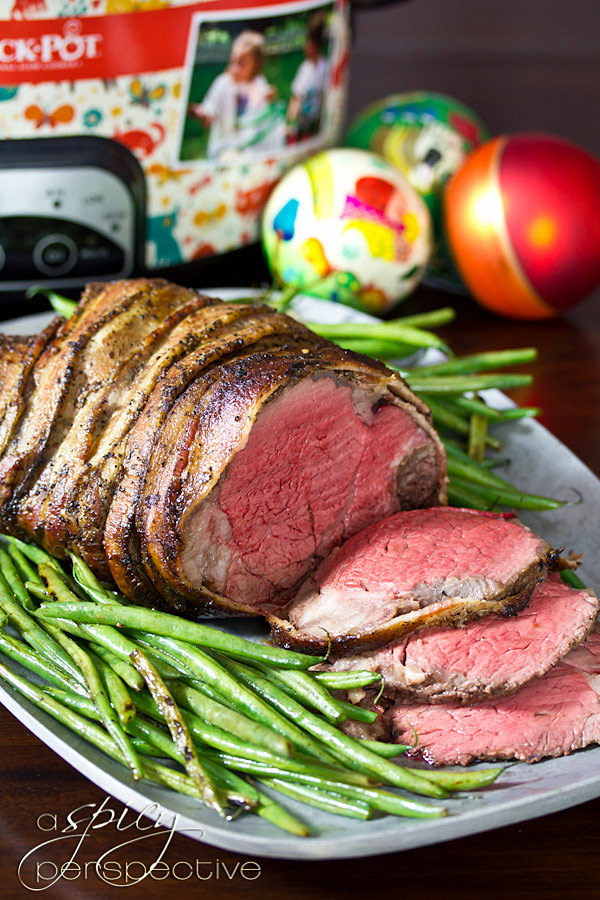 Crock-pot Beef Tenderloin with Balsamic Glaze | ASpicyPerspective.com #holidays #crockpot #slowcooker #recipes