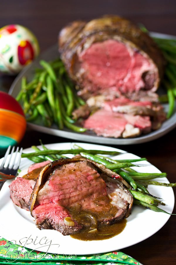 Beef Tenderloin Recipe with Balsamic Glaze | ASpicyPerspective.com #holidays #crockpot #slowcooker #recipes